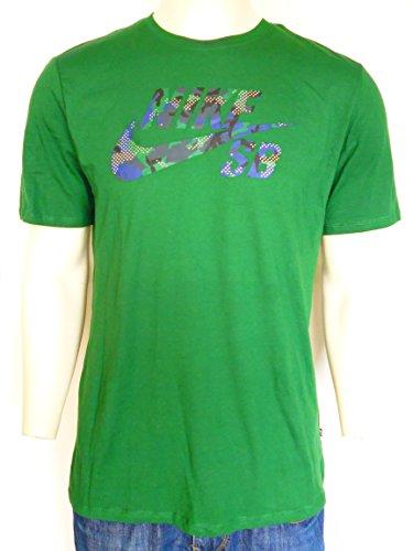 Nike SB Mens Tee, Nike SB Grün Herren T-Shirt Rundhals Reine Baumwolle Große; L