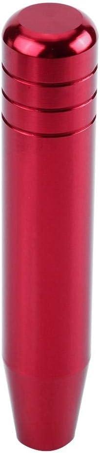 Car Gear Shift Knob Aluminum Alloy Auto Shifter Knob with Length of 18cm//7.1in KIMISS Universal Shift Knob Black