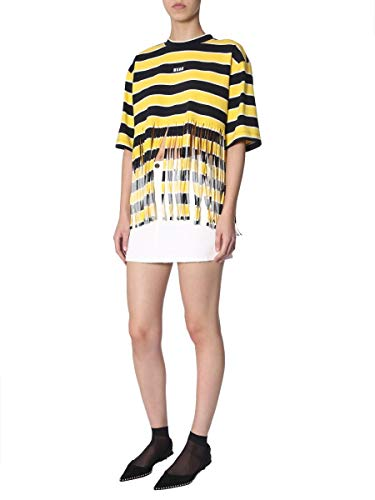 2641mdm67a19529306 Femme Jaune T Coton shirt Msgm ZPAq5dwq
