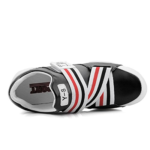 Hombres Zapatos deportivos Aumentado impermeable Antideslizante Zapatos de basquetbol Zapatillas black red