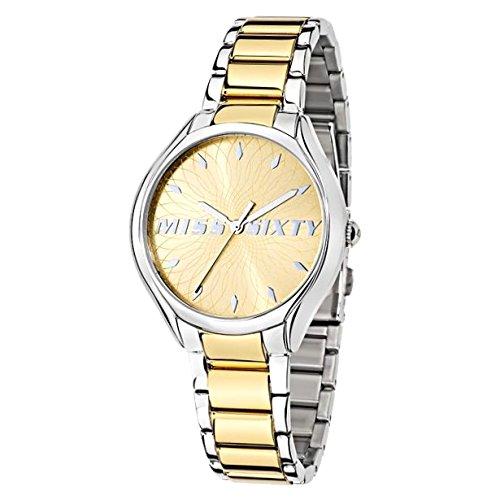 Miss Sixty Reloj Analógico para Mujer de Cuarzo con Correa en Acero Inoxidable R0753137504: Amazon.es: Relojes