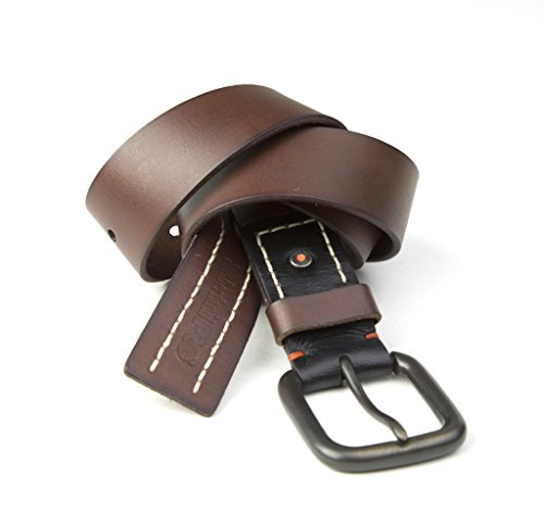 (Timberland PRO Men's 40mm Workwear Leather Belt, Acorn/Double Stitch, 40 )
