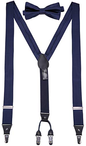 Mio Marino's Bow Tie and Suspenders for Men - Silk - Y-Back