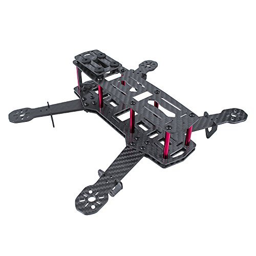 SunFounder 250mm Full Carbon Fiber FPV Mini Race Quadcopter Drone Frame Kit for F3 CC3D NAZE32 ESC Simon 12A Motor MT2204 5045 propellers Openpilot CleanFlight BetaFlight QAV250