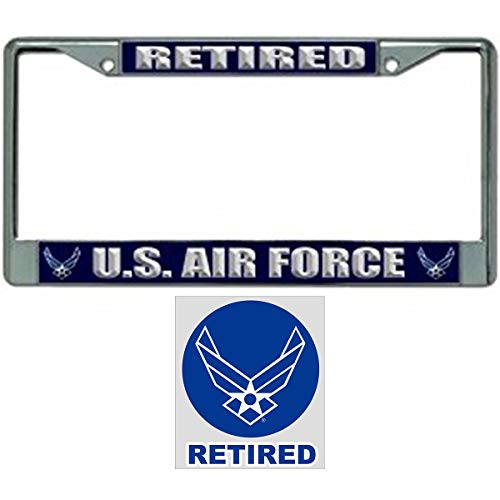 US Air Force Retired License Plate Frame Gift Bundle for sale  Delivered anywhere in USA