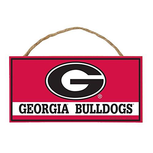 - Wincraft NCAA Georgia Bulldogs Hardboard Wood Signs with Rope, 5 x 10-Inch, Multi