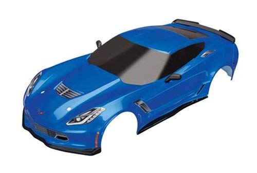 - Traxxas 8386X - Body, Chevrolet Corvette Z06, Blue (Painted, Decals Applied)