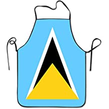 Yongchuang Feng Flag Of Saint Lucia Unisex Kitchen BBQ Cook Chef Apron Cooking Professional Adults Bibs Gifts Barbecue Aprons