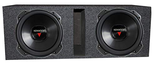 "2) Kenwood KFC-W3016PS 12"" 2000 Watt Subwoofer + Dual 12"" Vented Port Enclosure"