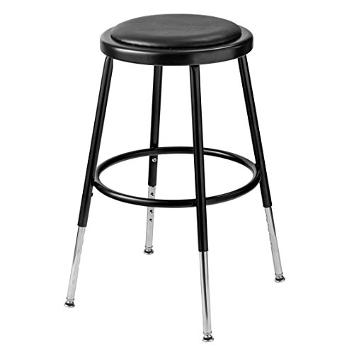 National Public Seating 24 Inch Stool - Height Adjustable Stool with Footring Size: 26.5