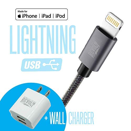 Apple Certified Cable DURACORD and Wall Charger with Dual USB Ports - Spark Revolt