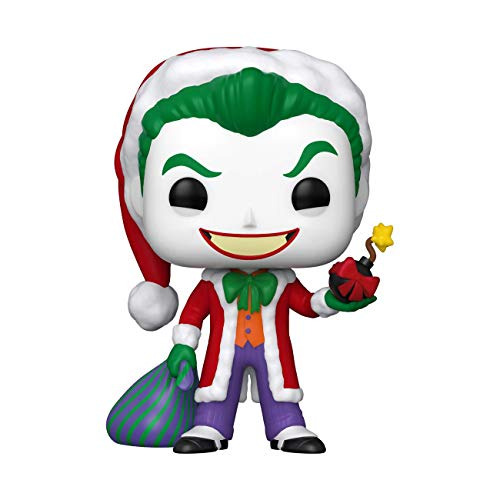 Funko- Pop Heroes DC Holiday-Santa Joker Comics Holidays S1 Figura Coleccionable, Multicolor (51071)
