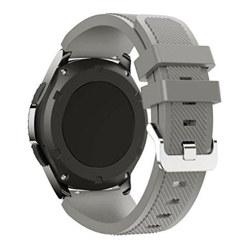 Price comparison product image Alonea New Fashion Sports Silicone Bracelet Strap Band For Samsung Gear S3 Classic (Gray)