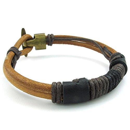 KONOV Leather Bracelet Tribal Braided