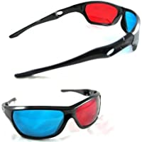 DNG Red Blue Cyan Plastic 3D Reusable Sporty General Glasses For TV Movie DVD