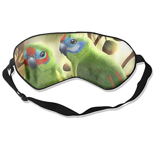 Ming Horse Adult Children Unisex Double Eyed Fig Parrots Eyeshade Sleep Mask Eye Mask - Fig Parrot