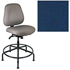 Office Master Maxwell Collection MX85IU Ergonomic Intensive-Use Chair - No Armrests - Grade 1 Fabric - Basic Blue 1005 PLUS Free Ergonomics eBook