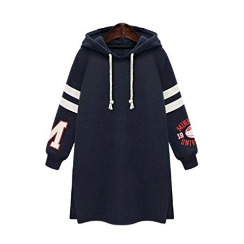 "Kinghard ""MINESOTA RUGPY ONTVRSITY""Winter Womens Hooded Hoodies Sweatshirt Casual Coat Tops Pullover Plus Size (XL, Dark Blue)"