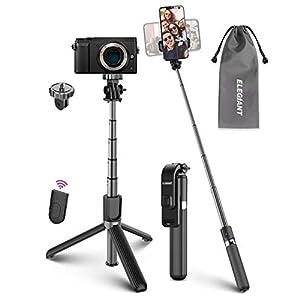 ELEGIANT Bastone Selfie Wireless, 4 in 1 Asta Selfie Stick Bluetooth con Treppiede per Camera Gopro 3,7-6,8 Pollici Cellulare iPhone 11 XS Max XR x 8s Samsung Galaxy S20 s10 s8 Huawei P30 P20 PRO 4 spesavip