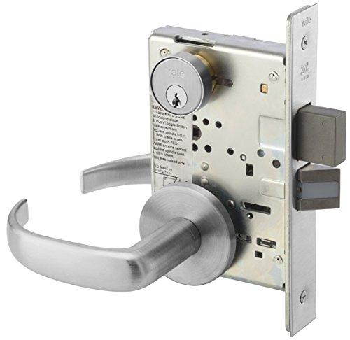 (Yale PBR 8822FL 626 Heavy Duty Mortise Lockset, Lever, Dormitory Lock)