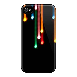 Ultra Slim Fit Hard AndrewWMorton Case Cover Specially Made For Iphone 4/4s- Falling Lights Ip4