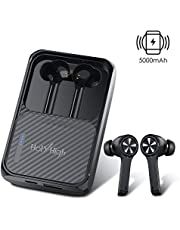 HolyHigh Bluetooth Headphones Wireless True Mini Stereo Wireless Earphones with Mic and Portable Charging Box for iPhone and Android