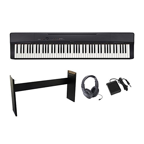 Casio Privia PX-160BK Digital Piano with CS-67 Stand Sustain