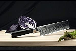 """Shun Cutlery Classic 6.5"""" Nakiri Knife; Kitchen Knife Handcrafted in Japan; Hand-Sharpened 16° Double-Bevel Steel Blade for Swift and Easy Precision ..."""