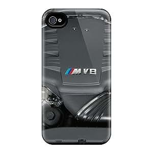 NFn1887KguX Case Cover Bmw M3 V8 Engine Iphone 4/4s Protective Case