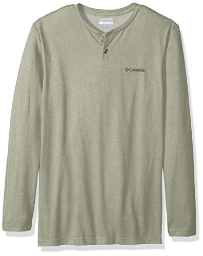 Columbia Men's Thistletown Park Big & Tall Henley, Safari Heather, 1X (Safari Big Shirt)