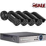DEFEWAY Kit de Cámaras de Vigilancia Seguridad, 4CH 1080N AHD DVR + 4 *720P