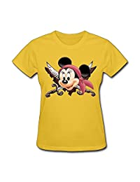 Tea Time Women's T Shirt Pop Captain Pirate Minne Black