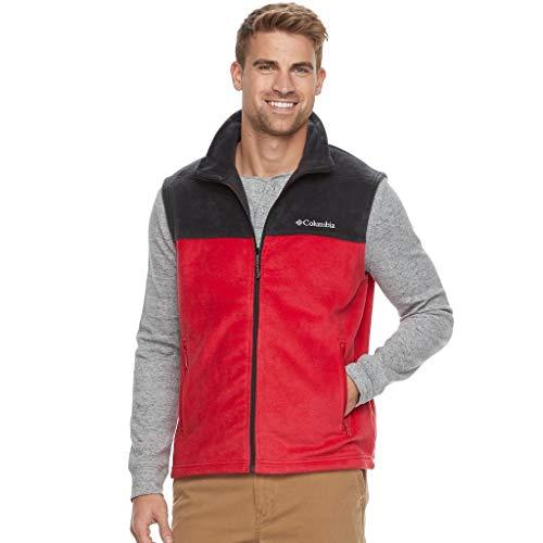 Columbia Flattop Ridge Men's Full-Zip Red-Black Fleece Vest Small