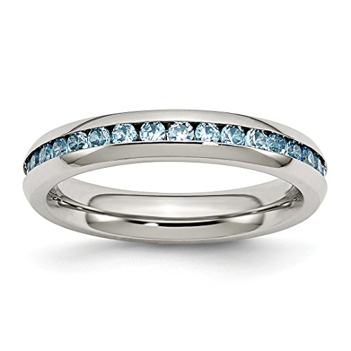 ICE CARATS Stainless Steel 4mm December Teal Cubic