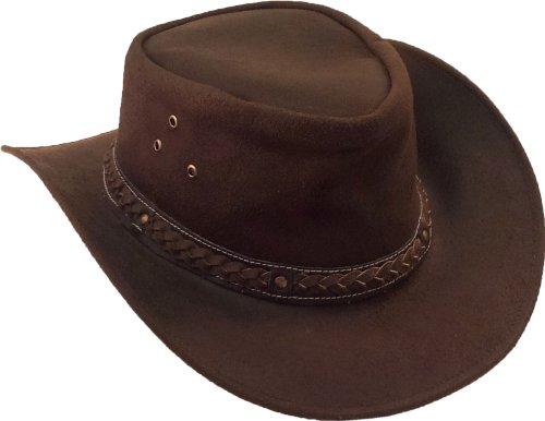 UNICORN Réal cuir australien aussie chapeau de cowboy chapeau de soleil Brun #8H