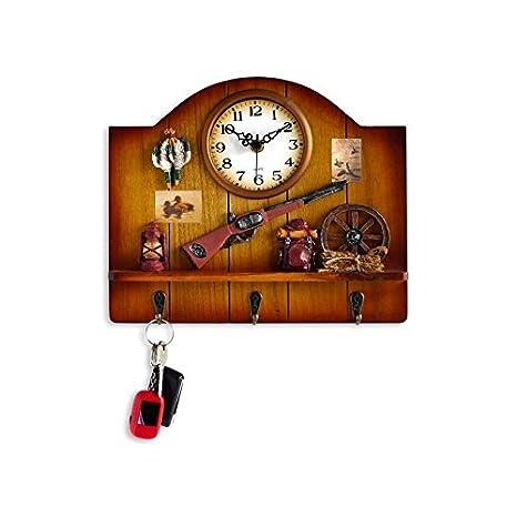Orium-Reloj de pared, diseño de caza 11593-Llavero de madera ...