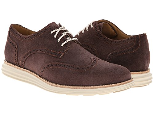 Cole Haan Men's Lunargrand Wing Oxford, Chestnut Suede, 8 M US (Cole Haan Lunargrand Chestnut compare prices)