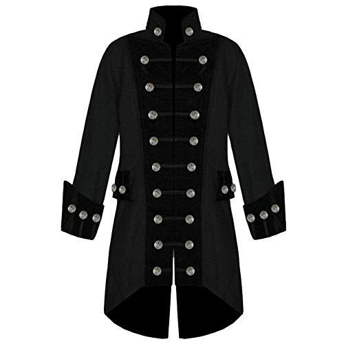 Uniforme Cosplay Cappotto Gotico Targogo Jacket Vittoriano Da Schwarz Gothic Smoking Steampunk Vintage Uomo Lungo Bwxq7dP1qH
