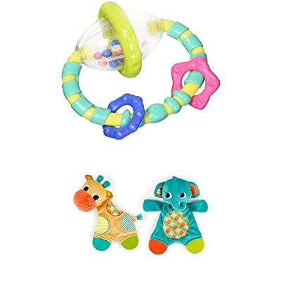 Bright Starts Grab and Spin Rattle & Bright Starts Snuggle Teether : Baby