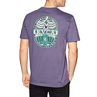 RVCA Opposites Short Sleeve T-Shirt Large Purple Jade