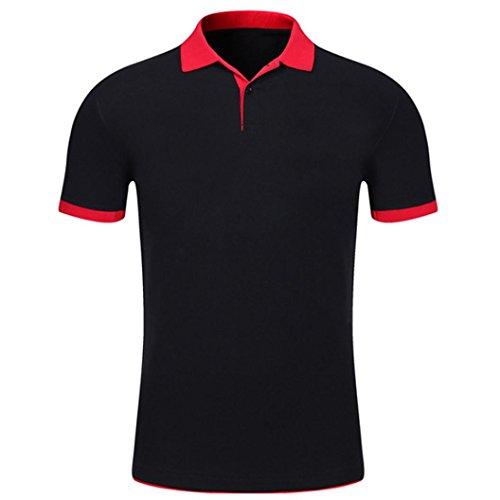 Bluestercool Hommes Polo Shirt Tops Été Casual Manches Courtes Slim Boutons T-Shirt 01