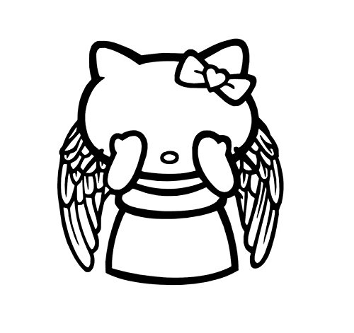 Doctor Who Vinyl Decal, Weeping Angel Stickers, Hello Kitty Vinyl Decal, Hello Kitty Weeping Angel -