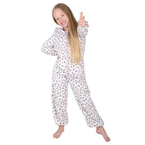 7b009c06ff96e Roaster Toaster Girls Hooded Fleece All In One Piece Pyjamas Jump Sleep  Suit Onesie PJ Nightwear