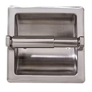 Arista Bath Products Recessed Toilet Paper Holder, Satin Nickel