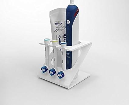 Soporte para 3 cabezales de cepillo de dientes eléctrico