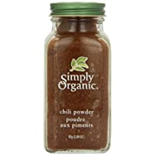 Simply Organic Organic Chili Powder, 82 gm