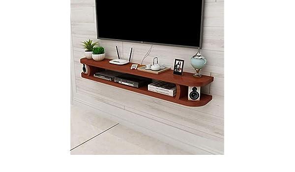 Estante Flotante Estante Flotante para componentes de TV Consola de Medios de Pared Soporte de TV Estante para Reproductores de BLU-Ray DVD Caja de TV satelital Caja de Cable (Color: MARRÓN: Amazon.es: