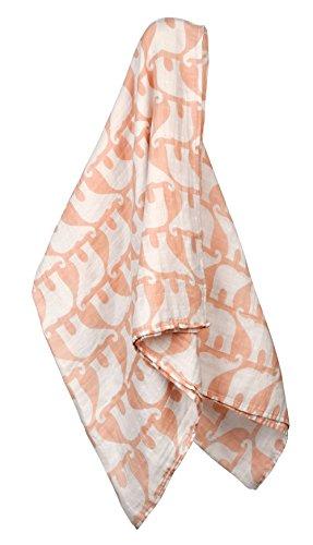 Milkbarn Organic Cotton Swaddle Blanket - Rose Elephant ()
