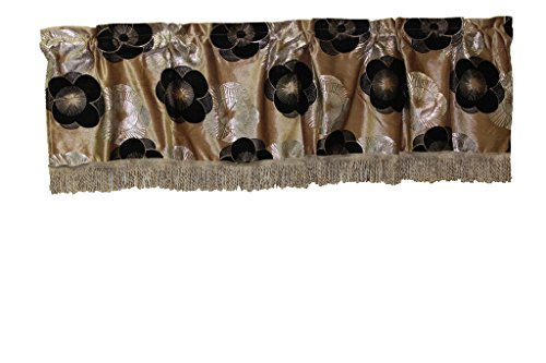 HomeCrate Luxurious Heratige Vintage Collection Window Valance, in (Luxurious Eyelet Trim Top)