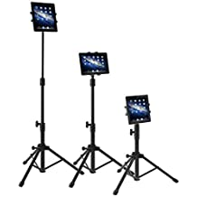 WER 360 Degree Rotation Tablet Tripod Adjustable Universal Notebook/PC Stand Tablet Mount Holder with Landing Base Computer Holder Landing Stand for iPad/iPad Mini/Samsung Galaxy Tab